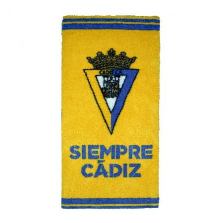 alfombra escudo Siempre Cadiz CF amarillo