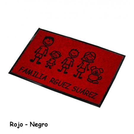 Felpudo Personalizado Familia 3