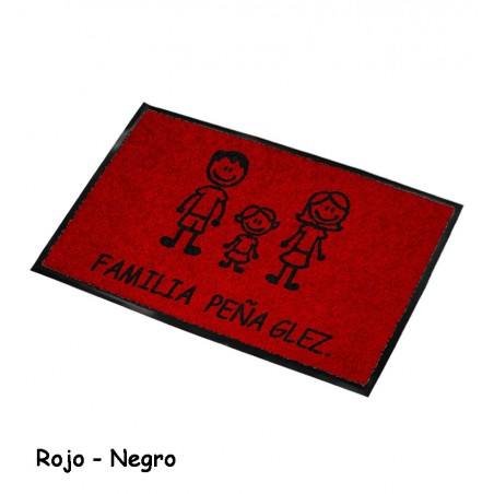 Felpudo Personalizado Familia 12