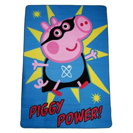 Alfombra Infantil Peppa George Pig Piggy Power