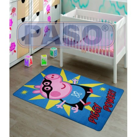 Alfombra infantil Peppa Pig George Piggy Power