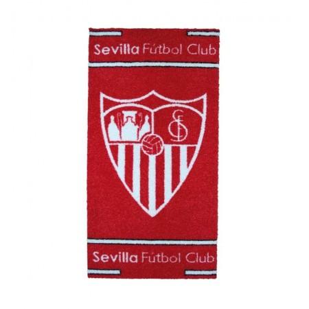 Alfombra escudo oficial sevilla fc blanco y rojo