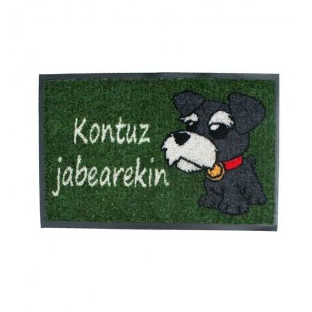 Felpudo Perro Kontuz jabearekin