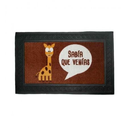 Felpudo  con jirafa Sabia que venias