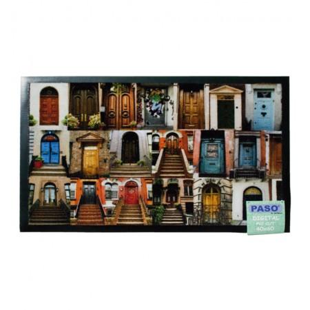Felpudo de PVC con imagen de Puertas