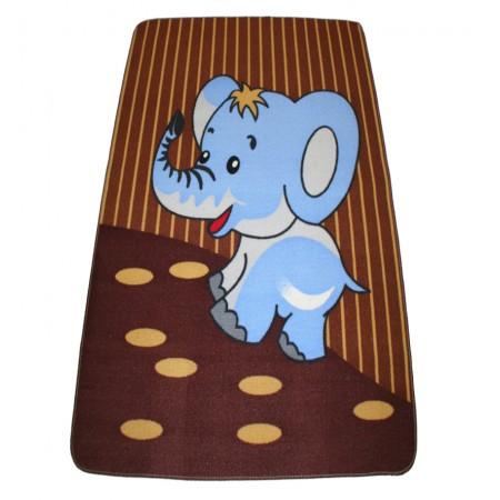Alfombra infantil elefante azul